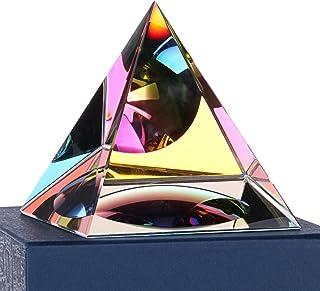 Sumnacon Cristal Pyramide en Verre de Couleur d'arc-en-Ciel et Une Belle Boîte, pour Photographie,Décoration, Cadeau ou Pr...