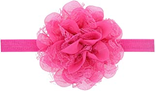Floral Fall Baby Girls Cute Elastic Chiffon Lace flower Headbands Hair Bands BY-36