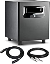"""JBL LSR310S 10"""" Powered Studio Subwoofer with XLF Bundled with 2 TRS and 2 XLR Cables (5 Items)"""