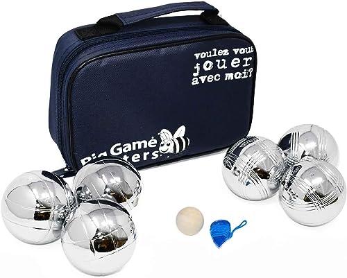 Big Game Hunters Jeu de 6 Boules de Pétanque avec Une Protection Antirouille - 3 Boules de Chaque Motif Gravés dans U...