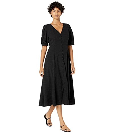 Madewell V-Neck Button-Down Midi Retro Dress