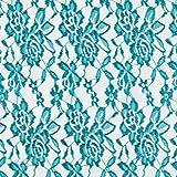 Fabulous Fabrics Spitze petrol, Blume, 150cm breit –
