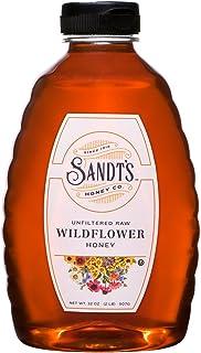 Sandt's Wildflower Honey, Unfiltered Raw Honey, Non-GMO Genuine, Pure Honey (2 lbs)