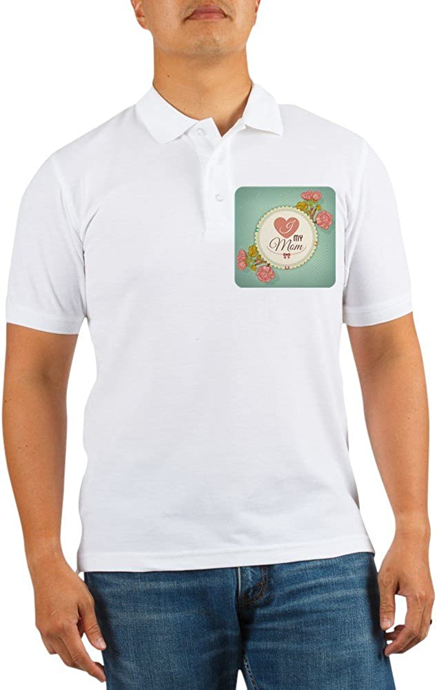Royal Lion Golf Shirt I Love Direct stock discount My Mother Roses Mom outlet