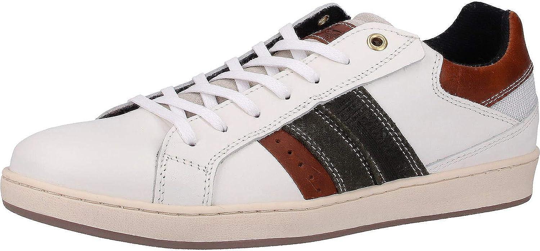 Bullboxer 758K26774AWHCOSU00 Mens White Leather Sneakers, 0