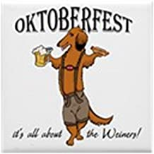 CafePress - LH Oktoberfest Dachshund Tile Coaster - Tile Coaster, Drink Coaster, Small Trivet