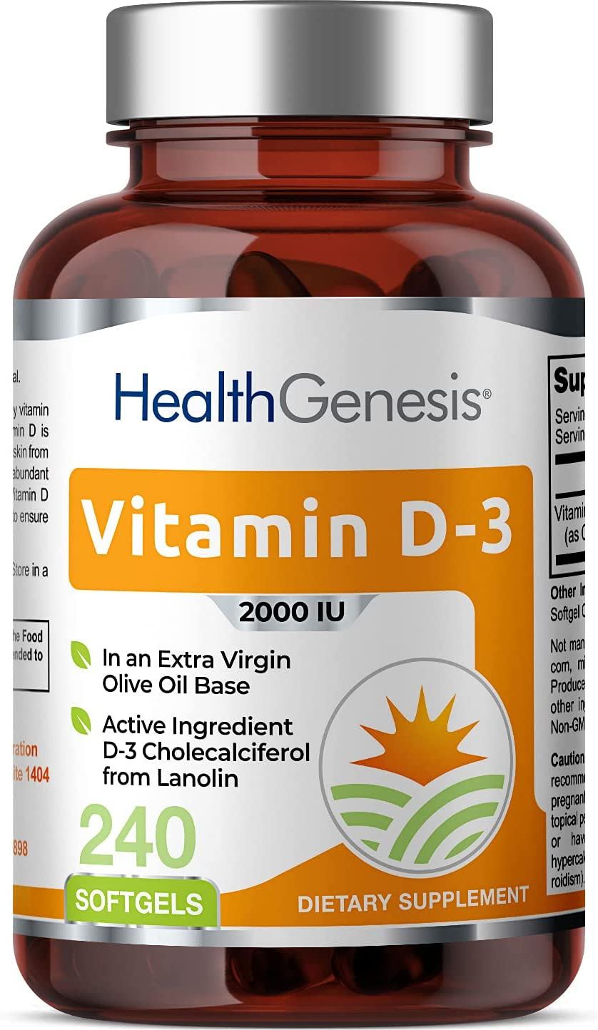 Vitamin D-3 2000 IU Our shop most popular Regular store 240 Softgels - Non Extra in Oil Olive Virgin