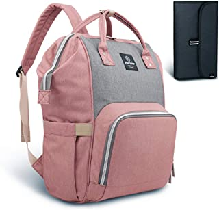 pink lining baby changing bags