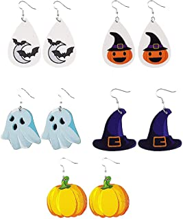 PTS 4 Pcs Halloween Ghost Wind up Toys Horror Witch Clockwork Toys Desktop Decor Halloween Party Decoration