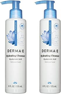 Dermae Hydrating Cleanser (Pack of 2) With Hyaluronic Acid, Vitamin E, Lemon Grass, Vitamin A, Papaya and Vitamin B5, 6 oz.
