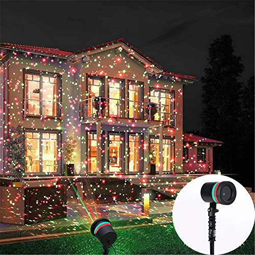 Camilaklein Christmas Laser Lights Outdoors Projector Pattern Lights LED Star Show Waterproof for Xmas Decorative House Yard Garden Wall Decor Home Holiday Party