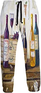 Cyloten Sweatpants Afternoon Wine Men's Trousers Breathable Baggy Sportswear Jogger Pants
