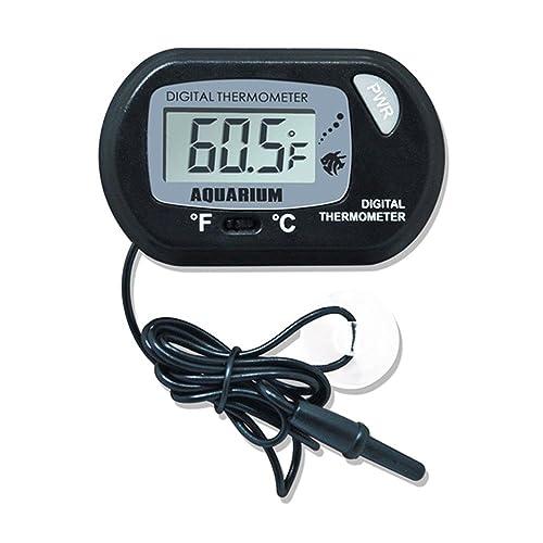 Hosaire Termómetro de Agua Digital LCD Tanque de Peces para el terrario Acuario Vivarium -50