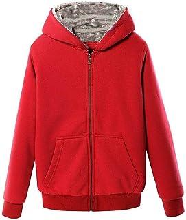 qianqianq Mens Sweatshirt Sherpa Lined Outwear Coat Fall Winter Thicken Hooded Sweatshirt