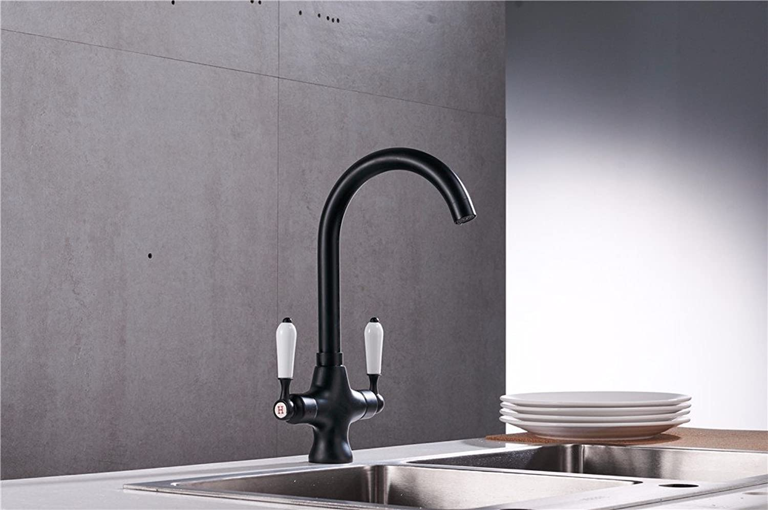Gyps Faucet Basin Mixer Tap Waterfall Faucet Bathroom The Nordic modern minimalist retro black ceramic stainless steel waterfall solid brass bathroom sink faucet kitchen toilet hotel restaurant
