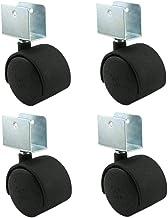 4 stks Meubelwielen, Swivel Stoel Kantoor Computer Stoel Vervang Flat Castor Wheels, Cabinet Tafel Bloem Stand Nylon Meube...