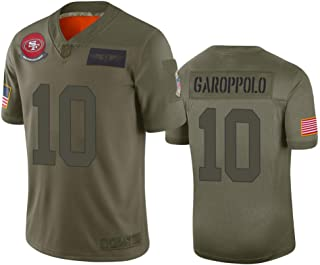 Mens San Francisco 49ers #10 Jimmy Garoppolo Camo 2019 Salute to Service Limited Jersey