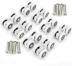 8 STKS Douche glas schuifdeur fittingen opknoping kleine katrol wiel opknoping conventionele vier-spoor roller wiel katrol