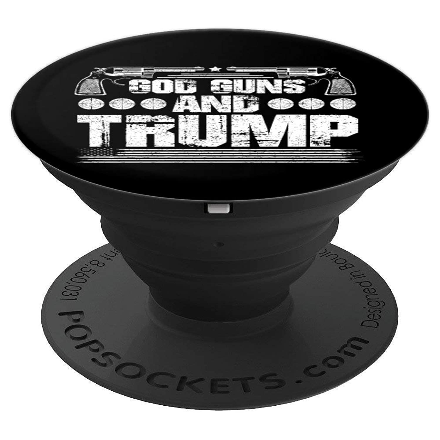 God Guns And Trump - 2nd Amendment Gift - PopSockets Grip and Stand for Phones and Tablets