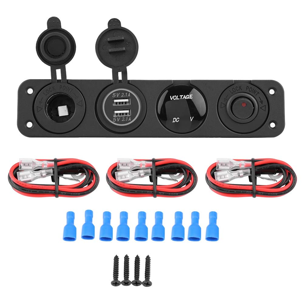 Long Beach Mall 4-in-1 On Off Toggle Al sold out. Switch Panel Dual USB for Voltmeter Charger