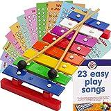 Glockenspiel für Kinder mit 8 Tönen, Musikalisches Xylophon, 22 Lieder zum einfachen Spielen