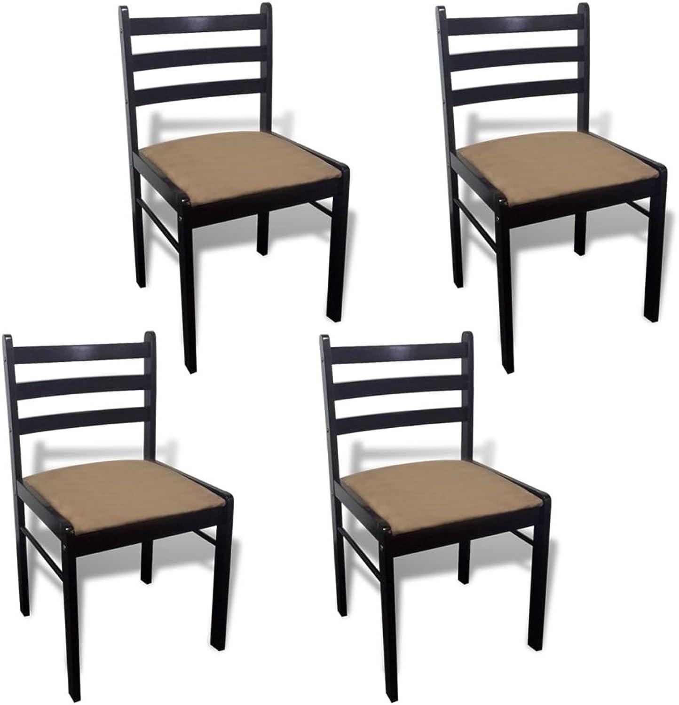 Tidyard 4X Esszimmerstuhl Küchenstühle Holzstuhl, aus Eiche, Braun Wei Optional, 44 x 45 x 81 cm (B x T x H)
