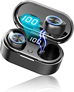 Bluetooth イヤホン Egoelifeワイヤレスイヤホン タッチ式 完全ワイヤレスイヤホン Hi-Fi 高音質 自動ペアリング Bluetoothヘッドセット ブルートゥースイヤホン 接続完了表示 片耳/両耳対応 左右分離型 最大36時...