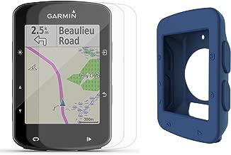 Garmin Edge 520 Plus (2018 Version) Cycle Bundle | w/PlayBetter Silicone Case & Screen Protectors | Maps/Navigation, Bike Mounts | GPS Bike Computer (Blue Case, GPS Only)