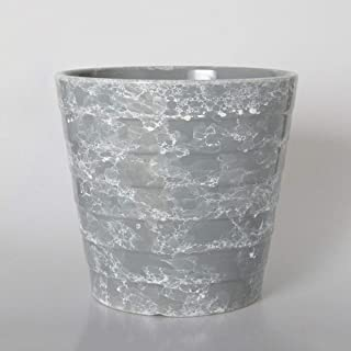 Mopoq Imitation Marble Ceramic Pot, For Living Room Decoration, Green Color, (Color : Gray, Size : XL)