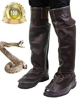 Zhaoyun Snake Guard Snake Shin Guard -Leather Leg Snake Gaiter and Snake Bite Leggings for Men and Women-Random Color