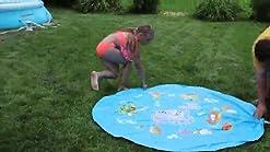 Fun Summer Toys for Kids Outdoor Trampoline Sprinkler Waterpark Summer Toys Backyard Water Games Sprinkler for Trampoline 39.7FT HOYURI Trampoline Sprinkler