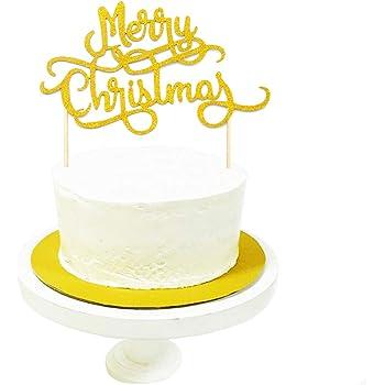Gold Glitter Bell Winter Festival Cake Decoration Christmas Feast Party Decoration Eokeanon Merry Christmas Cake Topper