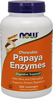Now Supplements, Papaya Enzyme with Mint and Chlorophyll, 360 Chewable Lozenges