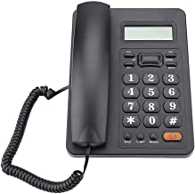 $27 » Tonysa Landline Telephone, DTMF/FSK Dual System Wired Caller ID Display Corded Fixed Telephone with Redial Function for Ho...