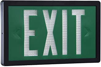 Isolite - SLX-60-D-20-G - 2 Face Self-Luminous Exit Sign, Green Background Color, Black Frame Color, 20 yr. Life Expectancy