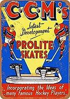 CCM Prolite Hockey Skates メタルポスター壁画ショップ看板ショップ看板表示板金属板ブリキ看板情報防水装飾レストラン日本食料品店カフェ旅行用品誕生日新年クリスマスパーティーギフト