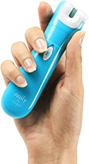 Naily by emjoi - Electronic Nail Care System, Manicure & Pedicure Tool - All in one - Nail Trimmer, Nail Clipper, Nail File & Nail Buffer - Trim, File, Shine!