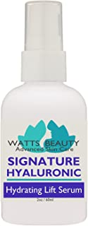 Watts Beauty Signature 100% Pure Hyaluronic Acid Wrinkle Serum - Best Hyaluronic Acid for Face - No Parabens - Perfect Plumping Moisturizer for Wrinkles, Fine Lines, Dry, Aging Skin 2oz