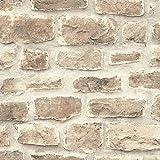 Rasch 860610 Papier peint intissé effet pierre rustique 10,05 m x 53 cm
