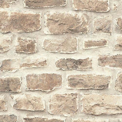 rasch Tapete 860610 aus der Kollektion b.b home passion VI – Vliestapete in rustikaler Stein-Optik – 10,05m x 53cm (L x B)