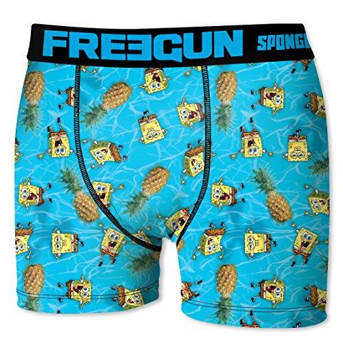Freegun Boxershort Herren SpongeBob Schwammkopf Ananas (L, Ananas)