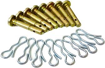 10 pcs Shear Pins + 10 pcs Cotters Pins for 738-04124A Cub Cadet MTD Troy Bilt 714-04040..