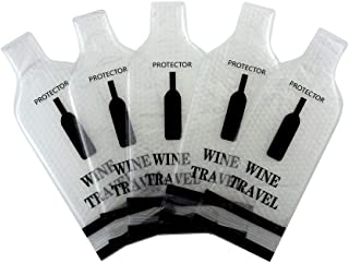 Reusable Wine Bottle Protector Sleeve Travel Bag,Leak Proof,Wine Bags Gift Accessory for Suitcase Luggage(5 Pack)