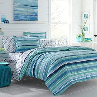 Poppy & Fritz 220832 Alex Cotton Comforter Set, Full/Queen, Blue