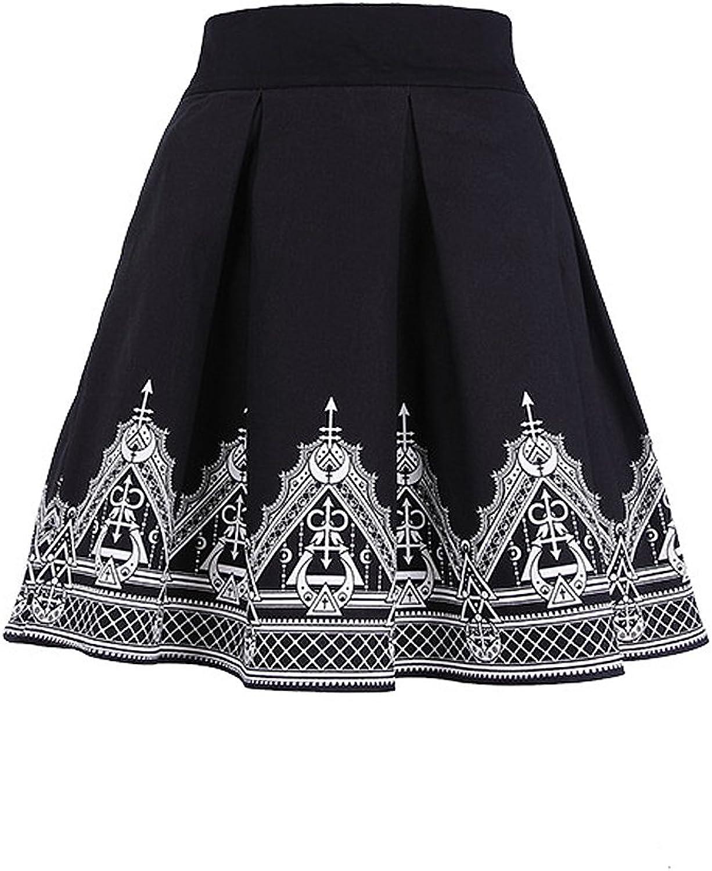 HENNA SKIRT  Black pleated short skirt with henna print
