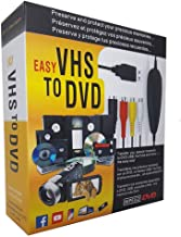 TopYart VHS to Digital Converter -[Upgrade] USB 2.0 Video Audio Capture Recorder Adapter Card V8/Vi8 VHS to DVD Converter TV DVR VCR CCTV Camcorder to PC for Windows 10/8