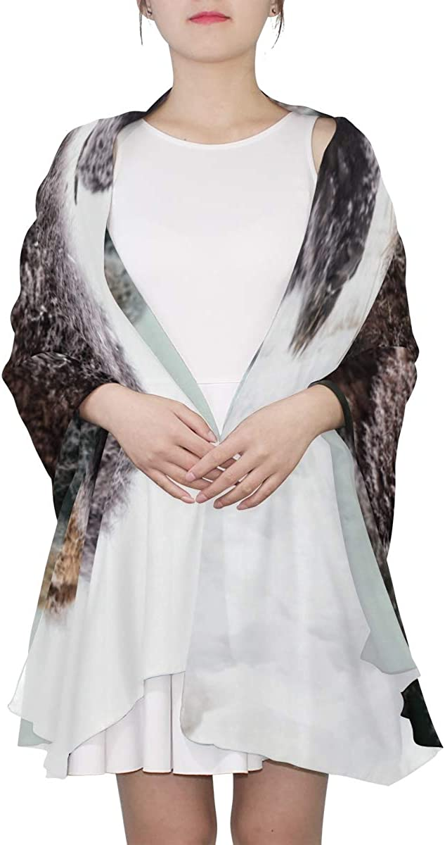 Violent Barbaric Cow Unique Fashion Scarf For Women Lightweight Fashion Fall Winter Print Scarves Shawl Wraps Gifts For Early Spring