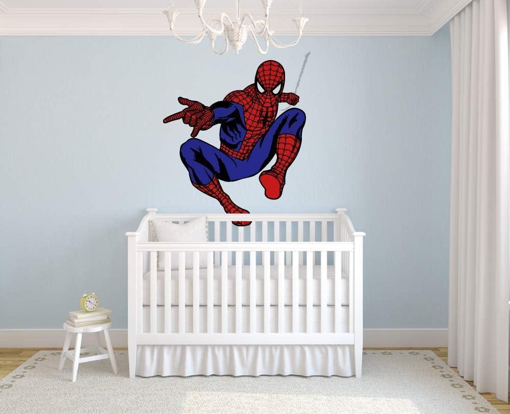 Spider Man Amazing Vinyl Decal Comics Wall Art Spider Man Decal Spider Man Sticker Housewares FN13 Kids Room Superhero Nursery Decor