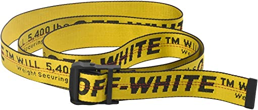 off white INDUSTRIAL belt yellow designer belts black buckle waist belts 200cm