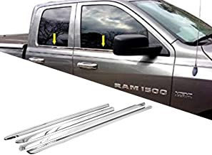 eLoveQ Polished Stainless Steel Chrome Window Sill Trims FOR 2009-2017 Ram 1500 Quad Cab